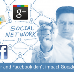 Twitter and Facebook signals do not impact Google rank